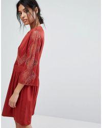 Gestuz - Lace Insert Dress - Lyst