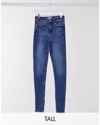 New Look Моделирующие Джинсы Скинни Синего Цвета -синий