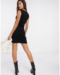 Mango Sleeve Mini Dress - Black
