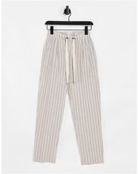 Native Youth Pinstripe Wide Leg Trousers - Multicolour