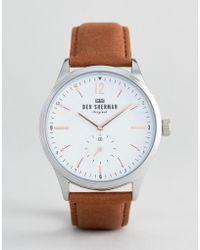 Ben Sherman - Wb015t Leather Watch In Tan - Lyst