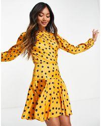 True Violet Vestido - Amarillo