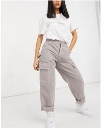 ASOS Pantalones cargo violetas extragrandes con bolsillos utilitarios - Morado
