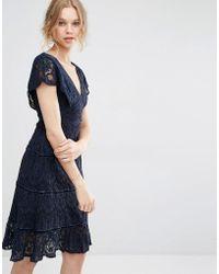 Foxiedox - Lace Midi Dress  - Lyst