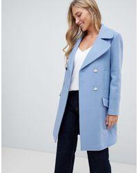 Forever New Manteau épuré - Bleu