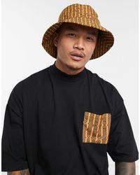 ASOS Co-ord Wide Brim Bucket Hat - Multicolour