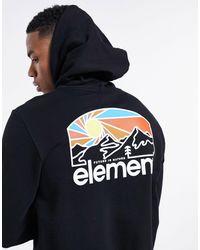 Element – sunnet – er kapuzenpullover mit bedruckter rückseite - Schwarz