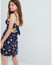Hollister - Tie Back Floral Print Cami Dress - Lyst