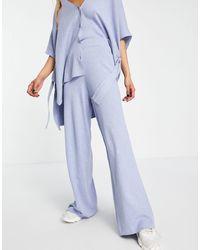 Mango Pantaloni a fondo ampio - Blu