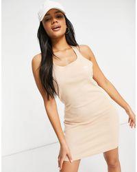 adidas Originals Adicolor - Vestito fasciante con tre righe e dorso a vogatore colore neutro