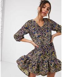 Y.A.S Свободное Платье Мини С Присборенной Юбкой И Мелким Цветочным Принтом -многоцветный