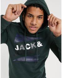 Jack & Jones - – Kapuzenpullover mit Logo-Print - Lyst