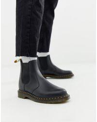 Dr. Martens - Черные Ботинки Челси Из Гладкой Веган-кожи 2976-черный - Lyst