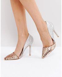Miss Kg Andrea Sequin Court Shoes - Multicolor
