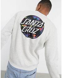 Santa Cruz Dot Splatter Crewneck Sweatshirt - Grey