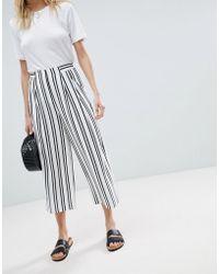 Warehouse - Stripe Culottes - Lyst
