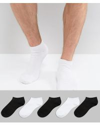 Invisible Socks In Black 5 Pack - Black New Look Discount Big Discount B2F2N