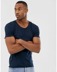 SELECTED T-shirt With Scoop Neck - Blue