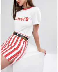 ASOS - Long Tipped Western Waist And Hip Belt With Old Gold Fittings - Lyst