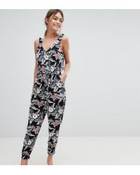 Oasis Tropical Print Jumpsuit - White