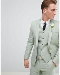 ASOS Asos Wedding Skinny Suit Jacket - Green