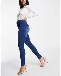 Naanaa High Waist Skinny Jeans - Blue