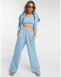 Monki Wee - jogger gaufré d'ensemble 3 pièces - Bleu
