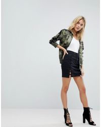 ARRIVE - Afrm Lace Up Denim Mini Skirt - Lyst