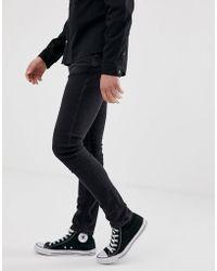 Nudie Jeans Skinny Lin - Jean skinny - Noir stone power