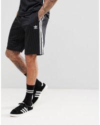 adidas Originals - Adicolor Retro Shorts In Black Cw1299 - Lyst