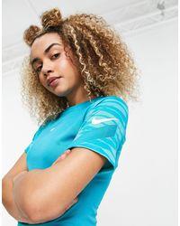 Nike Football Top turquesa dry strike - Azul