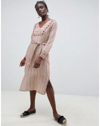 INTROPIA - Embroidered Midi Tunic Dress - Lyst