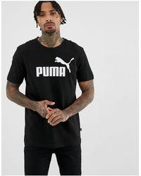 PUMA Essentials T-shirt With Large Logo - Black