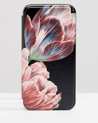 Ted Baker - Tablet Iphone 8 Mirror Case In Tranquility Floral - Lyst