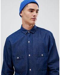 Noak Regular Fit Denim Shirt - Blue
