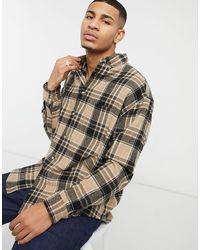 ASOS Wool Mix 90s Oversized Shirt - Brown