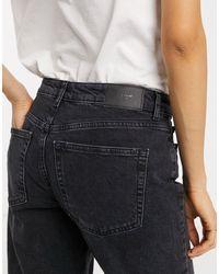 Vero Moda Organic Blend Cotton Straight Leg Jeans - Black