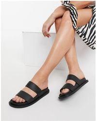 ASOS Friday Jelly Flat Sandals - Black