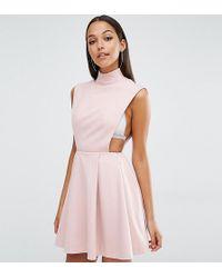 AQ/AQ - Aq/aq Sorah High Neck Mini Dress - Lyst