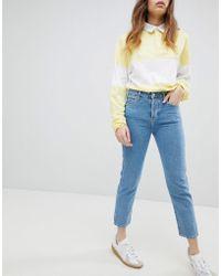 Wrangler - Cropped Boyfriend Jeans - Lyst