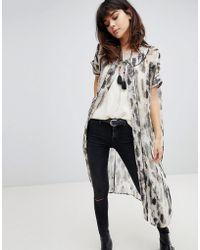 Religion - Kimono With Tassel Ties In Smudge Print - Lyst