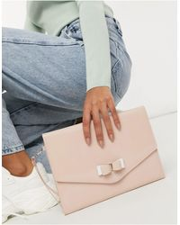 Ted Baker Harliee Bow Envelope Clutch Bag - Pink