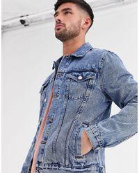 New Look Regular Fit Denim Jacket - Blue