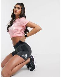 adidas Originals Adidas Training Alphaskin Booty Shorts With Side Logo - Black