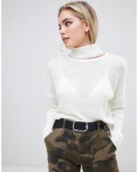 Missguided - Roll Neck Cropped Jumper - Lyst