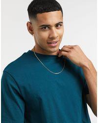 River Island T-Shirt regular fit verde-azzurro scuro - Blu