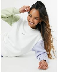 Nike Swoosh Colour Block Sweatshirt - Multicolour