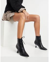 ASOS Ricky Pointed Toe Lace Up Boot - Black