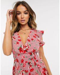 AX Paris - Розовое Платье Мини С Поясом -мульти - Lyst