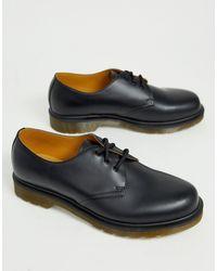 Dr. Martens Черные Туфли С 3 Парами Люверсов Dr.martens 1461 Pw - Черный